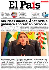 Portada de El País (Bolivie)