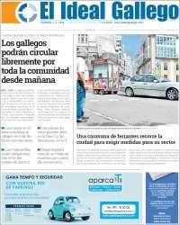 Portada de Diario de Ferrol (España)