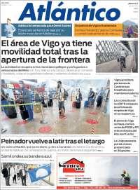 Portada de Atlántico Diario (Spain)