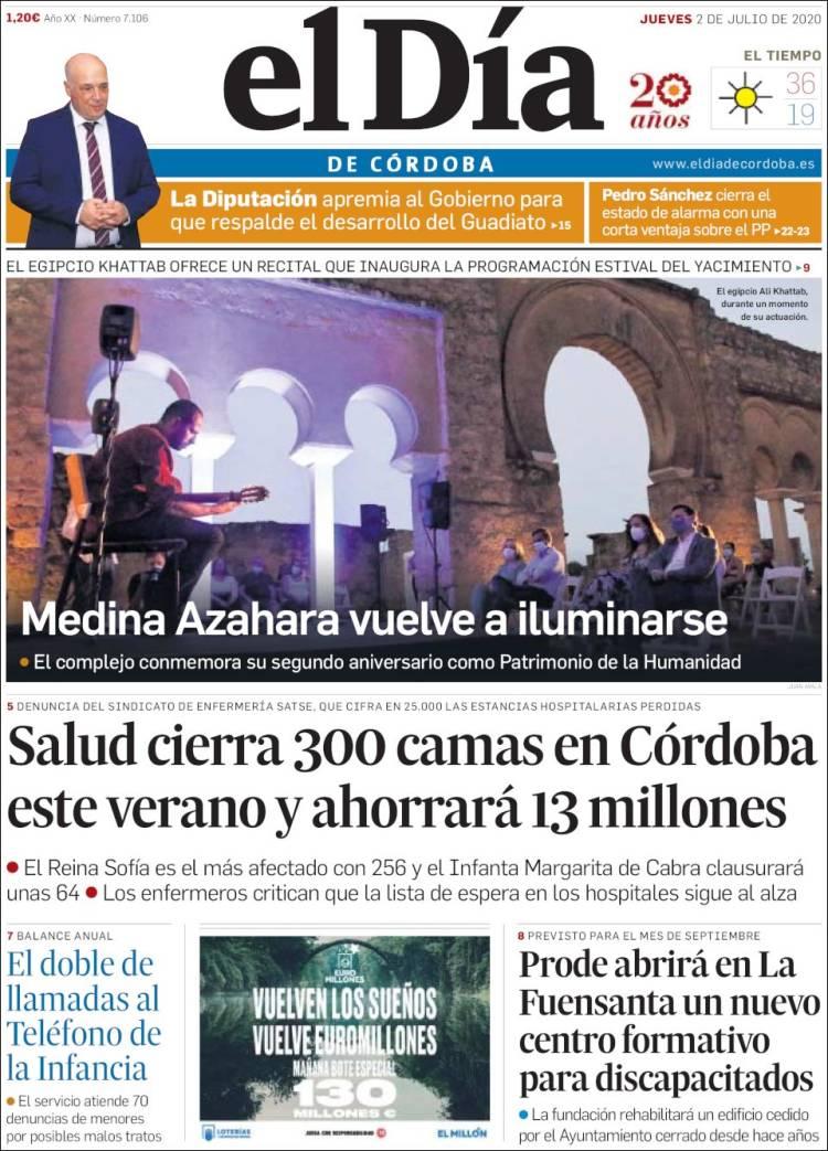 Portada de El Día de Córdoba (Spain)