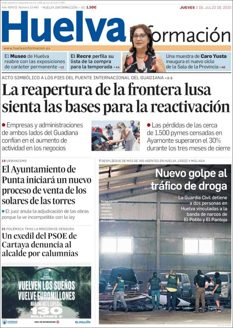 Portada de Huelva Información (Spain)