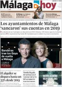 Portada de Málaga Hoy (Spain)