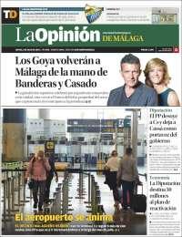 Portada de La Opinión de Málaga (Spain)