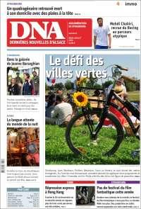 Portada de Les Dernières Nouvelles d'Alsace (France)