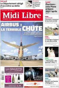 Portada de Midi Libre (France)