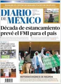 Portada de Diario de México (Mexico)
