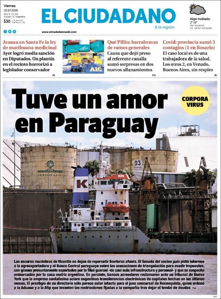 Portada de Diario El Ciudadano y la Región (Argentine)