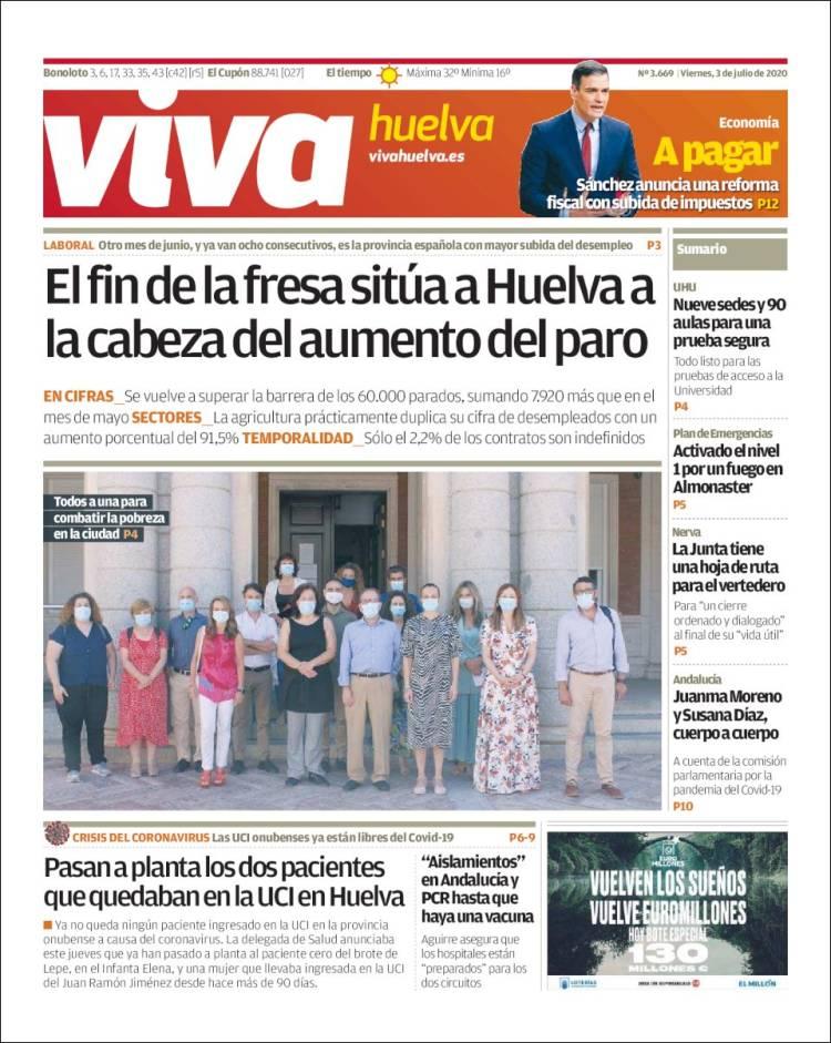 Portada de Viva Huelva (Espagne)