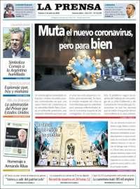 Portada de La Prensa (Argentine)