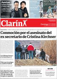 Portada de Clarín (Argentine)