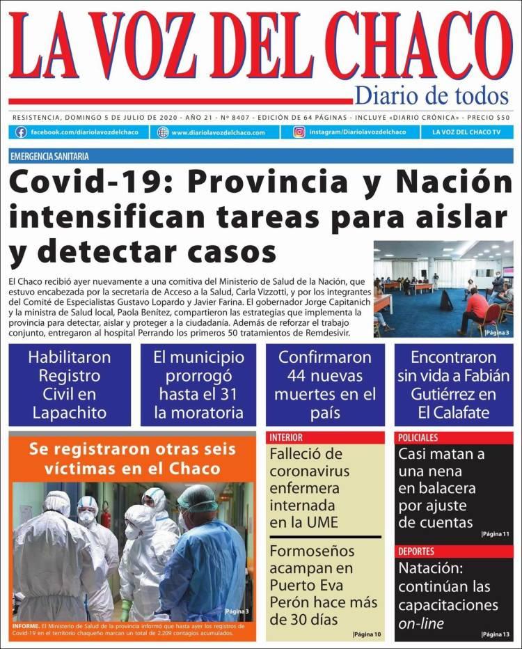 Portada de La Voz del Chaco (Argentine)