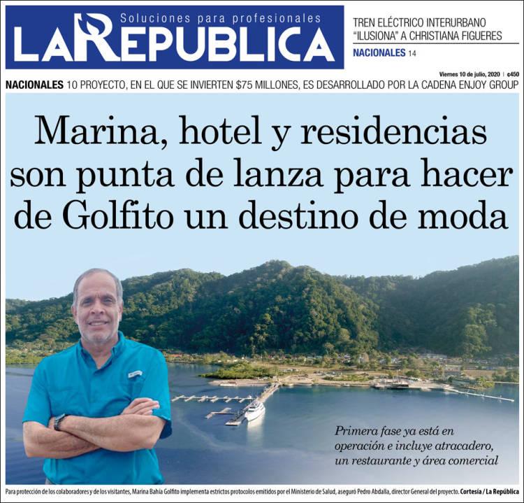 Portada de La República (Costa Rica)