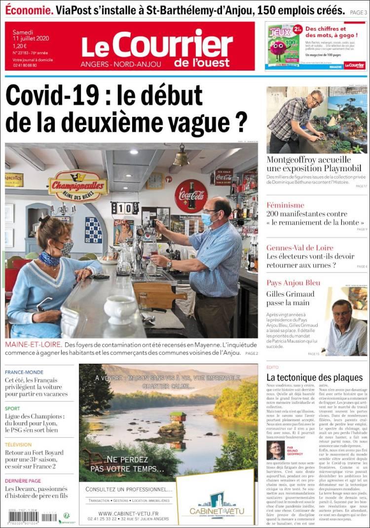 Portada de Le Courrier de l'Ouest (France)