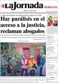 Portada de La Jornada - Morelos (Mexico)