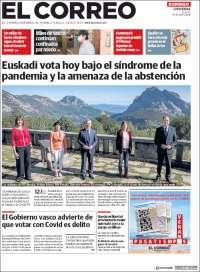 Portada de El Correo - Guipuzcoa (Spain)