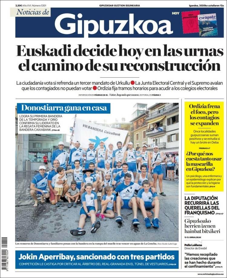 Portada de Noticias de Gipuzkoa (Spain)