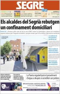 Portada de Segre (Spain)