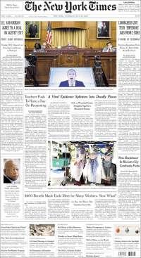 Portada de New York Times (États-Unis)
