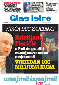 Portada de Glas Istre (Croatie)
