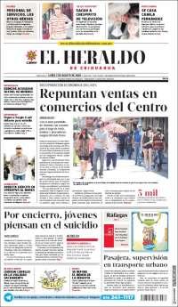 Portada de El Heraldo de Chihuahua (Mexique)