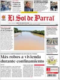 Portada de El Sol de Parral (Mexique)