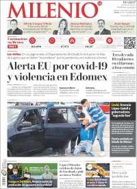 Portada de Milenio - Estado de México (México)