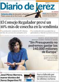 Portada de Diario de Jerez (Spain)