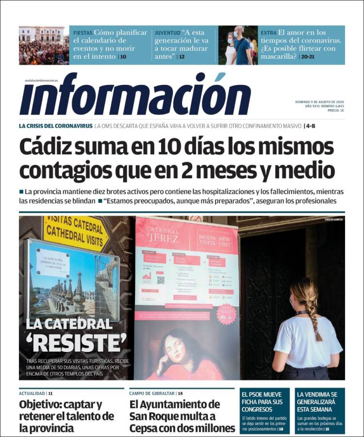 Portada de Información - Cadiz (Spain)