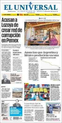 Portada de El Universal (Mexico)