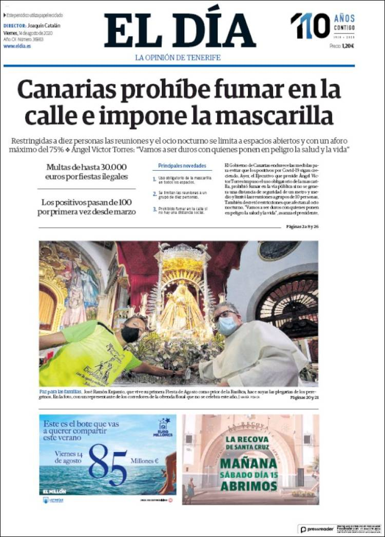 Portada de El Día (Spain)