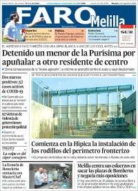 Portada de El Faro de Melilla (España)