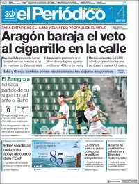 Portada de El Periódico de Aragón (Spain)