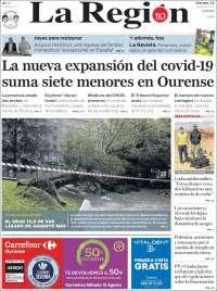 Portada de La Región de Ourense (Spain)