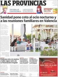 Portada de Las Provincias (Spain)