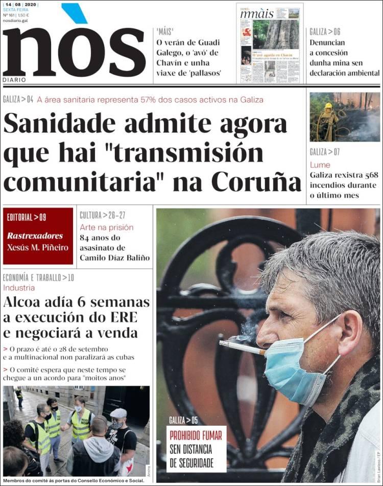 Portada de Nòs Diario (Spain)