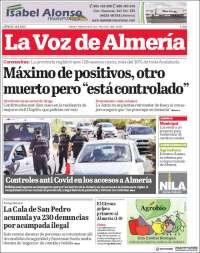 Portada de La Voz de Almería (Spain)