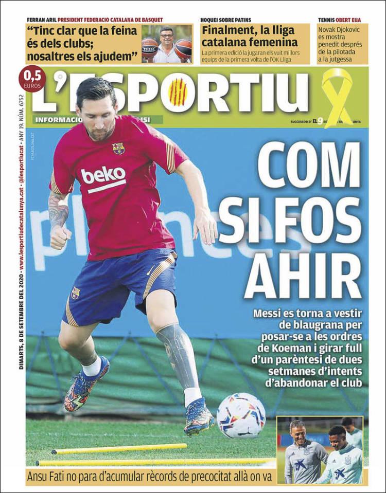 Couverture de L'Esportiu (Espagne)