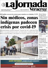 Portada de La Jornada Veracruz (Mexico)