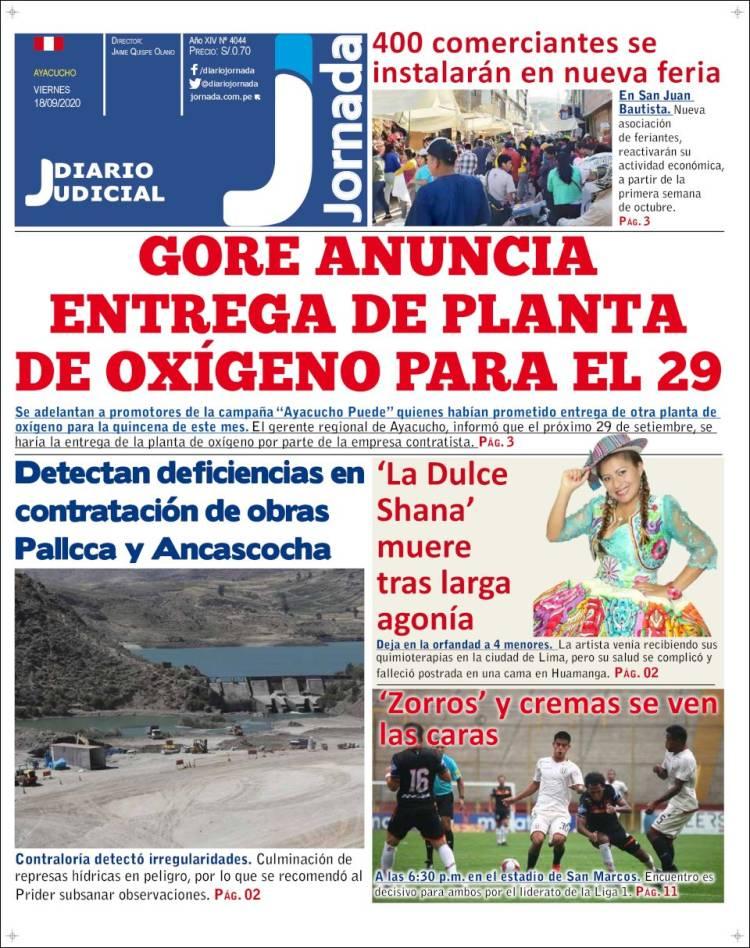 Portada de Diario Jornada (Perú)
