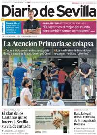 Portada de Diario de Sevilla (Spain)