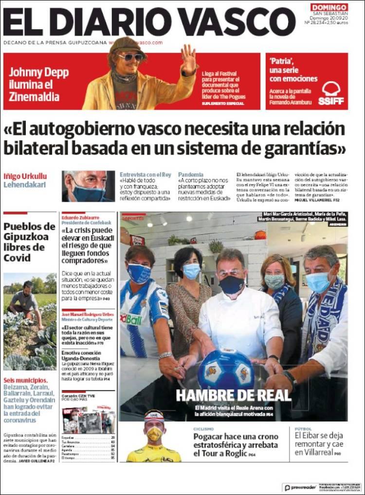 Portada de Diario Vasco (Spain)