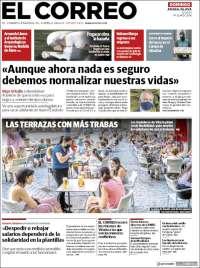 Portada de El Correo - Álava (Spain)