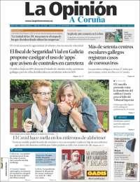 Portada de La Opinión de A Coruña (Spain)