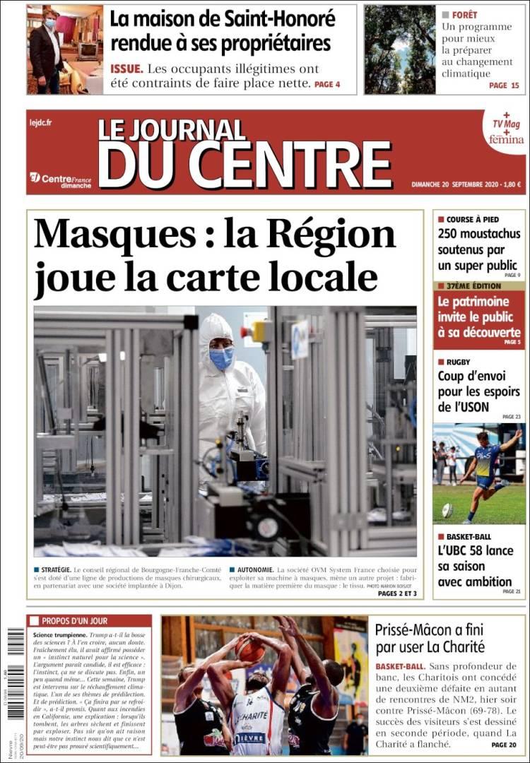 Portada de Le Journal du Centre (France)