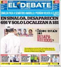 Portada de El Debate de Culiacán (Mexique)