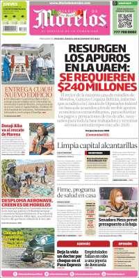 Portada de Diario de Morelos (Mexique)