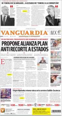 Portada de Vanguardia (Mexique)