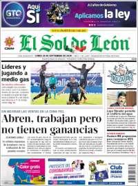 Portada de El Sol de León (Mexico)