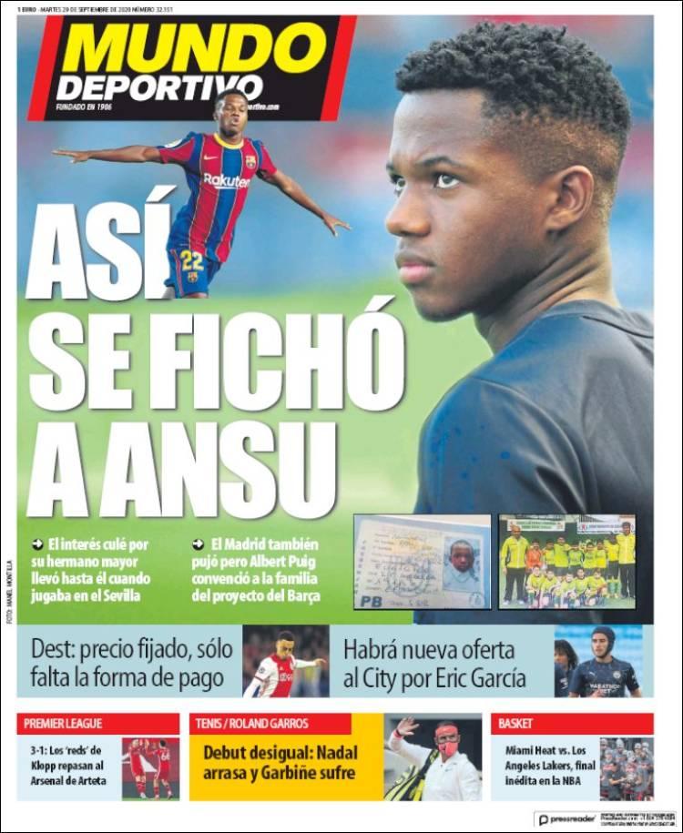 Couverture d'El Mundo Deportivo (Espagne)