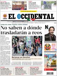 Portada de El Occidental (México)